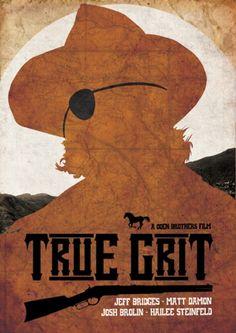 True Grit minimalist movie poster