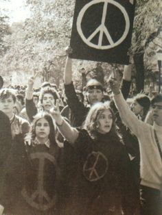 .And still protesting today for peace!