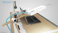 Desk concept. Personal internal project while interning at frog design San Francisco.