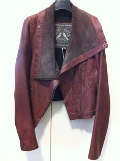 Mister Zimi 'Willow' suede and leather biket jacket in plum 8 RRP $345 as new! in Clothing, Shoes, Accessories, Women's Clothing, Coats, Jackets   eBay