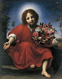 Gesù con i  fiori - Carlo Dolci