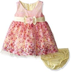 59280b5d6 Extra Off Coupon So Cheap Bonnie Baby Girls Sleeveless Ballerina Party Dress  with Panty Pink 18 Mon.