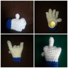 Me gusta y otras versiones de la manita de Facebook   #handmade #ganchillo #crochet #Facebook #mano  https://www.facebook.com/amigurumiproyecto/  https://www.facebook.com/ovilladans/