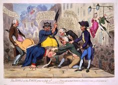 The Hopes of the Party, prior to July 14th by James Gillray