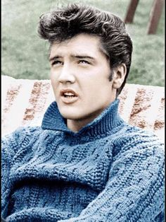Elvis. I never get tired of this picture. What. A. Babe.