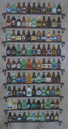 Ink Circles Cross Stitch Pattern Chart 99 Beer Bottles Tracy Horner C21 #InkCircles