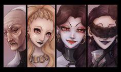 """Personajes de """"La descendiente"""", incluido en Las Catacumbas de Salem, por Irene Calleja"""