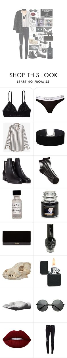 """""""far too young to die~🔫"""" by askingmychempilots ❤ liked on Polyvore featuring Aerie, Calvin Klein, White House Black Market, Miss Selfridge, 3.1 Phillip Lim, CB I Hate Perfume, Yankee Candle, Balmain, CASSETTE and Harry Allen"""