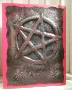 Handmade A4 Polymer Clay Pentagram Book of by MysticalForestUK