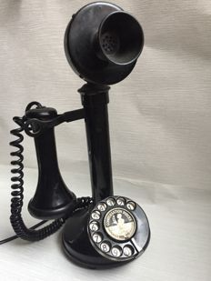 150 Series Candlestick Telephone With external Bell set - bakelite shaft - midcentury Telephone Vintage, Telephone Booth, Vintage Phones, Retro Vintage, Vintage Items, Antique Phone, Retro Images, Old Phone, Old Doors
