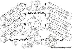 Cartel de normas Classroom Rules, Spanish Classroom, Dream English, First Day School, Good Manners, Crochet Angels, Primary Teaching, God Prayer, Education English