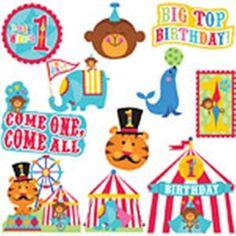 Ballon Set Zirkus 1 Geburtstag Helium geeignet Folienballons