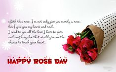 Happy Rose Day Wishes & Greeting Picture, Image Card Text Message & Quote get free latest cool saying thoughts fb whatsapp status sms for valentine hindi english Love Quotes With Images, Love Quotes For Him, Quote Of The Day, Quotes Images, Valentine Day Week, Happy Valentines Day Images, Valentine Ideas, Valentine Cards, Romantic Messages