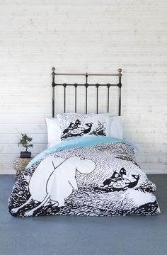 Moomin Summer Madness Summer Madness, Tove Jansson, Duvet Covers, The Originals, Bedroom, Kids, Inspiration, Furniture, Home Decor