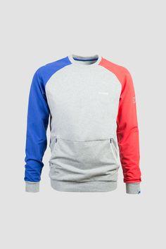 Mazine Break Men Sweatshirt Mid Grey Mel. / Poppy
