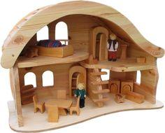 Preciosa casa redondeada Waldorf de madera de haya http://www.hullitoys.com/casas-de-munecas/210-casa-de-munecascasa-de-munecas-redondeada-norbert-verneuer-2400000000631.html