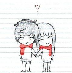 casal romantico desenho com frases - Pesquisa Google