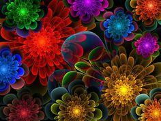 Fractal Bouquet Digital Art by Lyle Hatch - Fractal Bouquet Fine Art Prints and…