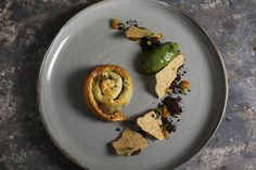 Chocolate pistachio m'hencha with apricot and basil ice-cream   Dessert recipes   SBS Food