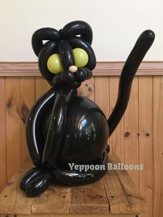 Friday the 13th black cat for good luck! Balloon twisting available from Yeppoon Balloons