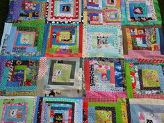 scrappy quilt - ok! This is the one I am going to make with all my scraps!!