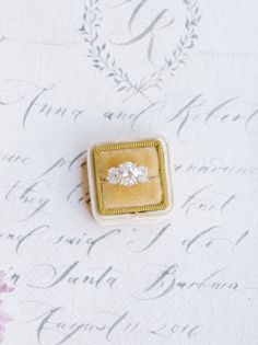 Gorgeous three-stone oval engagement ring: http://www.stylemepretty.com/2016/05/12/sand-dunes-wedding-inspiration/   Photography: Tenth & Grace - http://www.tenthandgrace.com/