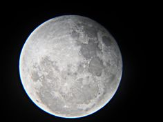"""We were outside looking at the moon through my crappy 80 dollar telescope and I thought to myself """"Self, what if you took your equally crappy 130 dollar camera, held the aperture up to the eyepiece of the telescope and snapped a photo?""""  Yea, I thought it was a silly idea, too, but guess what, it worked out averagely well.    Enjoy."""
