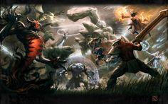 Dota2 Clash of Heroes 1 Redux! by *kunkka on deviantART