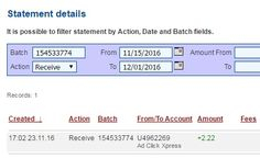 I am getting paid daily at ACX and here is proof of my latest withdrawal. This is not a scam and I love making money online with Ad Click Xpress. Join for FREE and get 20$ + 10$ + 5$ Monsoon, Ad and Media value packs from ACX.  My #29 Withdrawal Proof of online income from Ad Click Xpress.