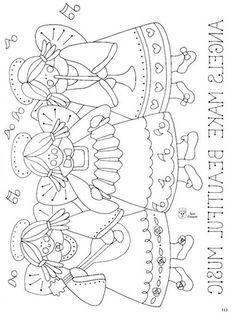 Desenhos de Anjos Country - O Mundo Das Crianças Pintura Country, Arte Country, Embroidery Patterns Free, Hand Embroidery, Quilt Patterns, Sewing Patterns, Angel Coloring Pages, Adult Coloring Pages, Coloring Books