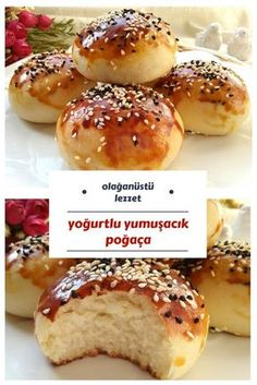 Donut with Yogurt (Extraordinarily Soft And Very Delicious) - Yummy Recipes - yemek - No Salt Recipes, Yogurt Recipes, Snack Recipes, Dessert Recipes, Cooking Recipes, Yummy Recipes, Tasty, Yummy Food, Turkish Recipes