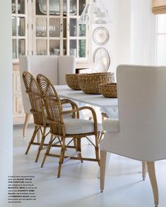White Wash - Santa Barbara Magazine - Home and Garden 2017 Room Chairs, Dining Chairs, Dining Rooms, Beauty Routine At Home, Shades Of White, Diy For Teens, Home And Living, Ideal Home, Small Spaces