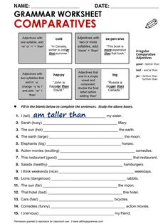 English Grammar Comparatives www.allthingsgrammar.com/comparatives.html