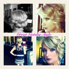 Beautiful Gastby inspired hair at the Beauty Bar! #hair #Gatsby #Updo