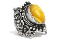Butterscotch Amber Ring Egg Yolk Art Nouveau Unique Silver https://tezsah.com/shop/en/detail/index/sArticle/1479