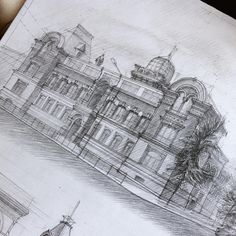 Hand Drawn Architectural Sketches by Adelina Gareeva | Colossal