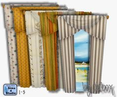 My Sims 4 Blog: Curtains by Oldbox