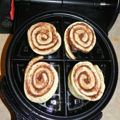 Cinnamon Roll Waffles...& I just got a waffle maker for Christmas :)