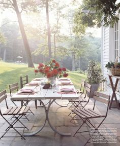 delight by design: morning eye candy {pretty + simple patios}