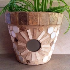 Rustic mosaic flower pots make great forever gifts:)