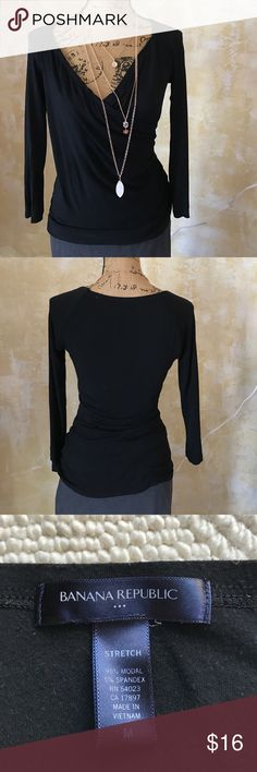 Banana Republic dressy tee Flattering style and perfect color... Banana Republic Tops Tees - Long Sleeve