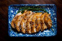 Teriyaki Chicken Breasts Recipe Main Dishes with soy sauce, sake, mirin, sugar, ginger, boneless skinless chicken breasts, sesame seeds