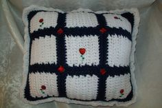 Crochet-pillow-hand-made