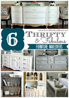 Love Of Family & Home: 6 Thrifty & Fabulous Furniture Makeovers (Linky Party Features)