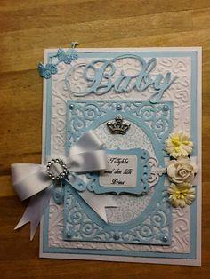 Baby card - baby boy - card - scrap - congratulation - paperarts