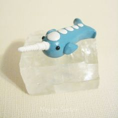 Narwhal Figurine Polymer Clay Animal Nautical Item