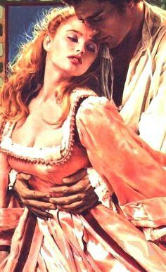 Romance book cover art, Historical romance novel cover art, romantic painting; paintings; couples; lovers; romance; art; artist; man; woman; beautiful; beauty; romance novel inspired; sexy; seductive; erotic