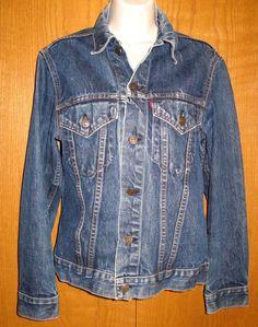 Levi's Big E Vtg Dark Blue Denim Western Jeans Jacket Coat Women's Size S/M #Levis #JeanJacket