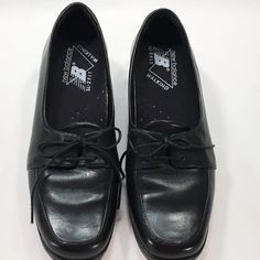 Grasshoppers Women's Size 6 1/2 M Black Faux Leather Oxfords Walking Shoes #Grasshoppers #LoafersMoccasins #Casual