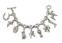 Silver Horse Charm Jewelry combines two of this season's hottest trends: fine silver jewelry and pandora style equestrian theme bead charms. Equestrian Jewelry, Horse Jewelry, Cowgirl Jewelry, Western Jewelry, Horse Necklace, Sterling Silver Charm Bracelet, Silver Charms, Charm Jewelry, Unique Jewelry